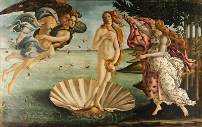 "Sandro Botticelli ""Birth of Venus"" painting"