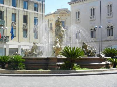 fountain of Diana in Siracusa