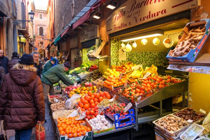 Grocery store in Bologna