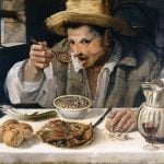 painting of annibale eating at a table