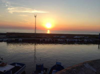 stunning sunset and sea in Puglia
