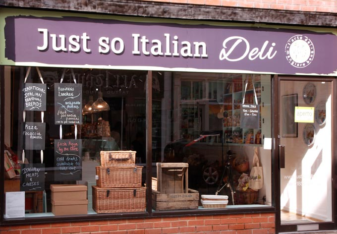 Just so Italian Deli in Leicestershire