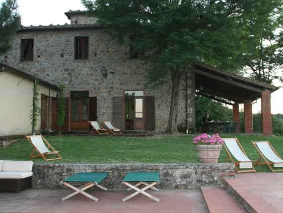 Beautiful pool area in Villa Arezzo.