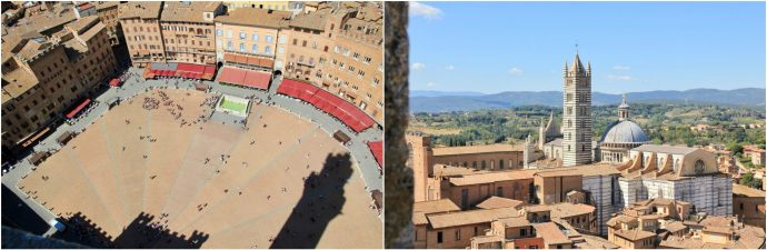 Scenic views of Siena