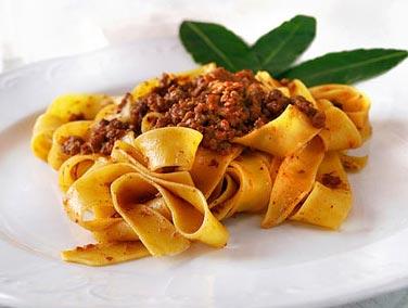 Tagliatelle al Ragu on our Italian cooking holiday