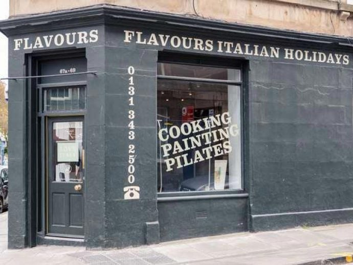 Flavours Holidays office exterior in Edinburgh.