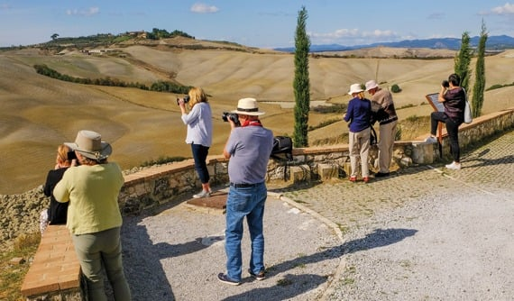 Group of photographers in Tuscany