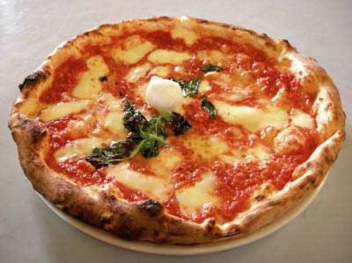 Delicious home made pizza Margherita
