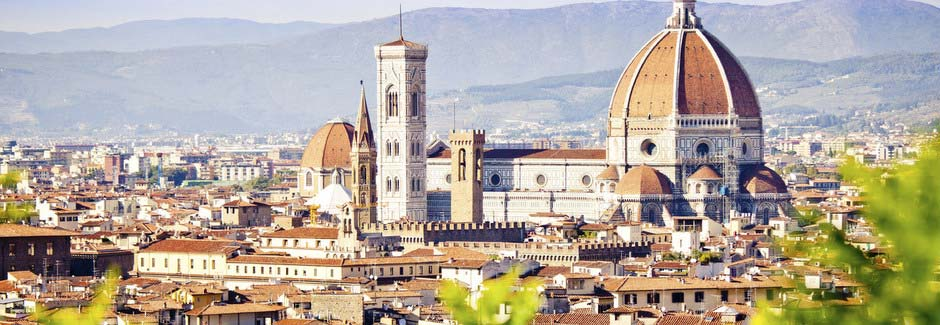 Panorama on Spring in Florence