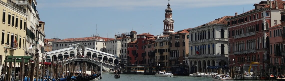 view of an ornate canal bridge in Venice