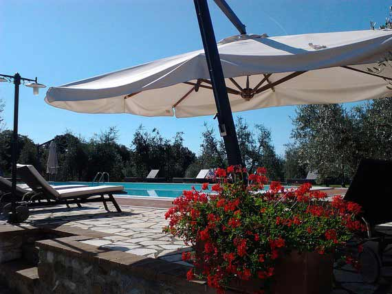 Swimming pool in our villa in Tuscany.