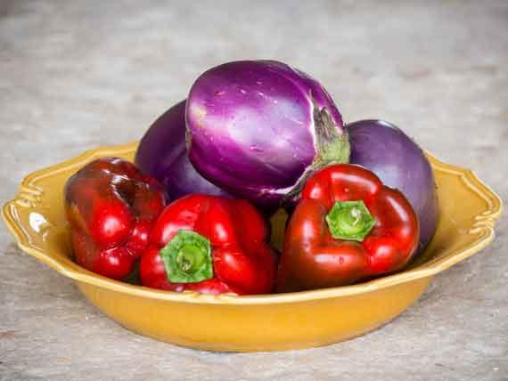 delicious looking Italian vegetables in bowl