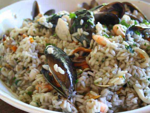 Fresh seafood Risotto from Puglia
