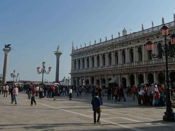 Picturesque St Marks square in Venice.