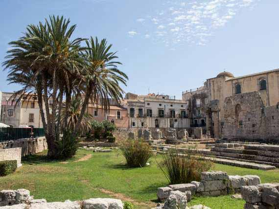 Ancient ruins in Sicily.
