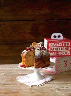 Delicious Panettone served on a tray