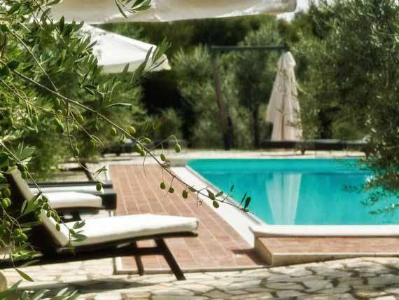 Outdoor pool at Tuscan villa.