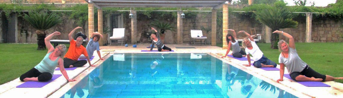 Pilates by the pool in Puglia