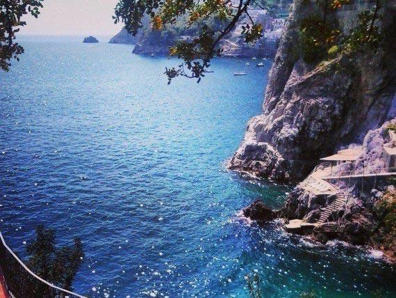 Scenic view of the stunning Amalfi coast