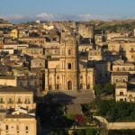 Roof top view of stunning Ragusa in Sicily