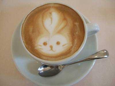Cappuccino-bunny in the Pasticceria Tiffany in Arezzo