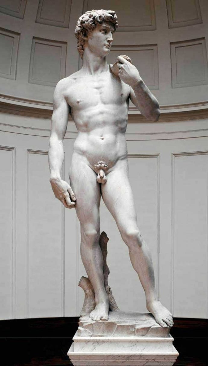 Michelangelo's David in the Academia Gallery