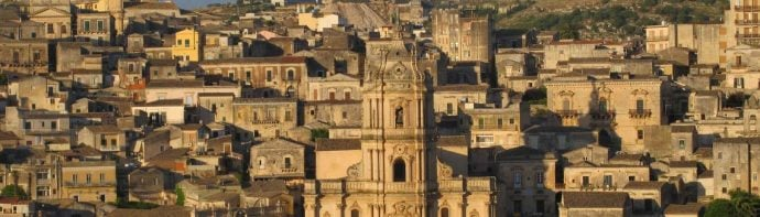 Roof tops and ancient architecture in Sicily