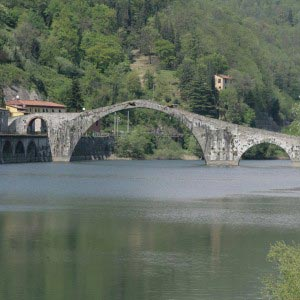 ancient bridge in tuscany