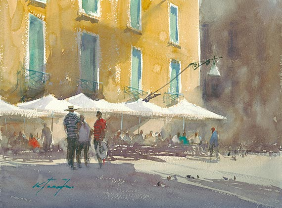 watercolour painting by keiko tanabe venice afternoon