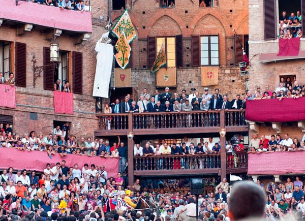 Palio Siena Race Italy August July