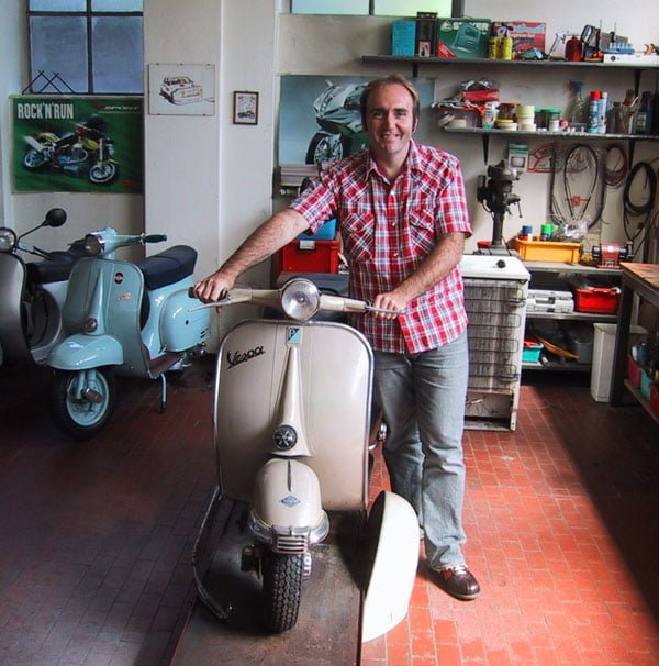 Peter Moore Author Italy Vespa