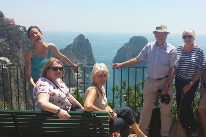 Language holidays guests in Amalfi with Italian host.