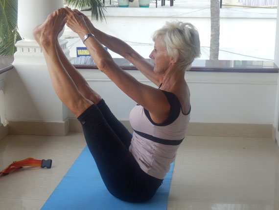 """Janine has been a qualified Body Control Pilates instructor for the last 19 yrs. She was one of the first Supervising teachers, helping newly qualified teachers through their teaching practise. """"I love teaching Pilates on a Flavours Holiday as it gives me such an advantage. I not only get to teach my students morning and evening most days but I get to have fun with them all week. This, coupled with their 1:1 session, gives me so many more clues as to ways I can help them with improving posture and functional movement. In the relaxed environment it is easy to introduce bodies and minds to new ways of 'being'. My holidays are like a Pilates 'clinic' and I aim to give everyone something 'extra' to take home to improve their technique."""