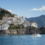 View of the Amalfi Coast and the beautiful houses