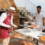 Cooking guest in Amalfi learning how to make pizza