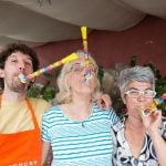 Italian hosts in Amalfi celebrating with cooking guest