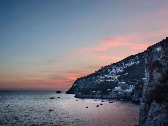 sunset and seaview in the stuning Amalfi coast