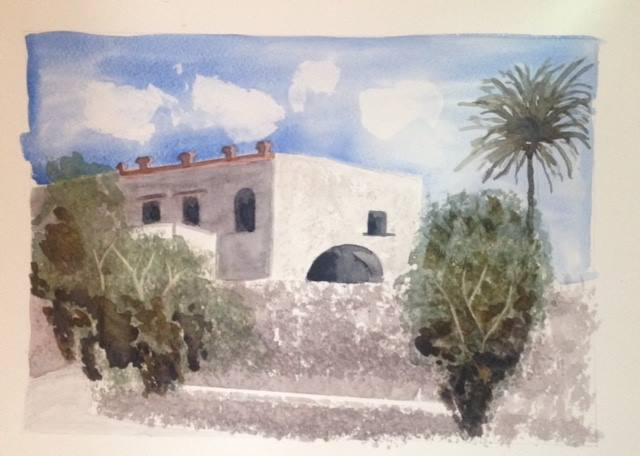 watercolour-painting-of-villa-in-sicily
