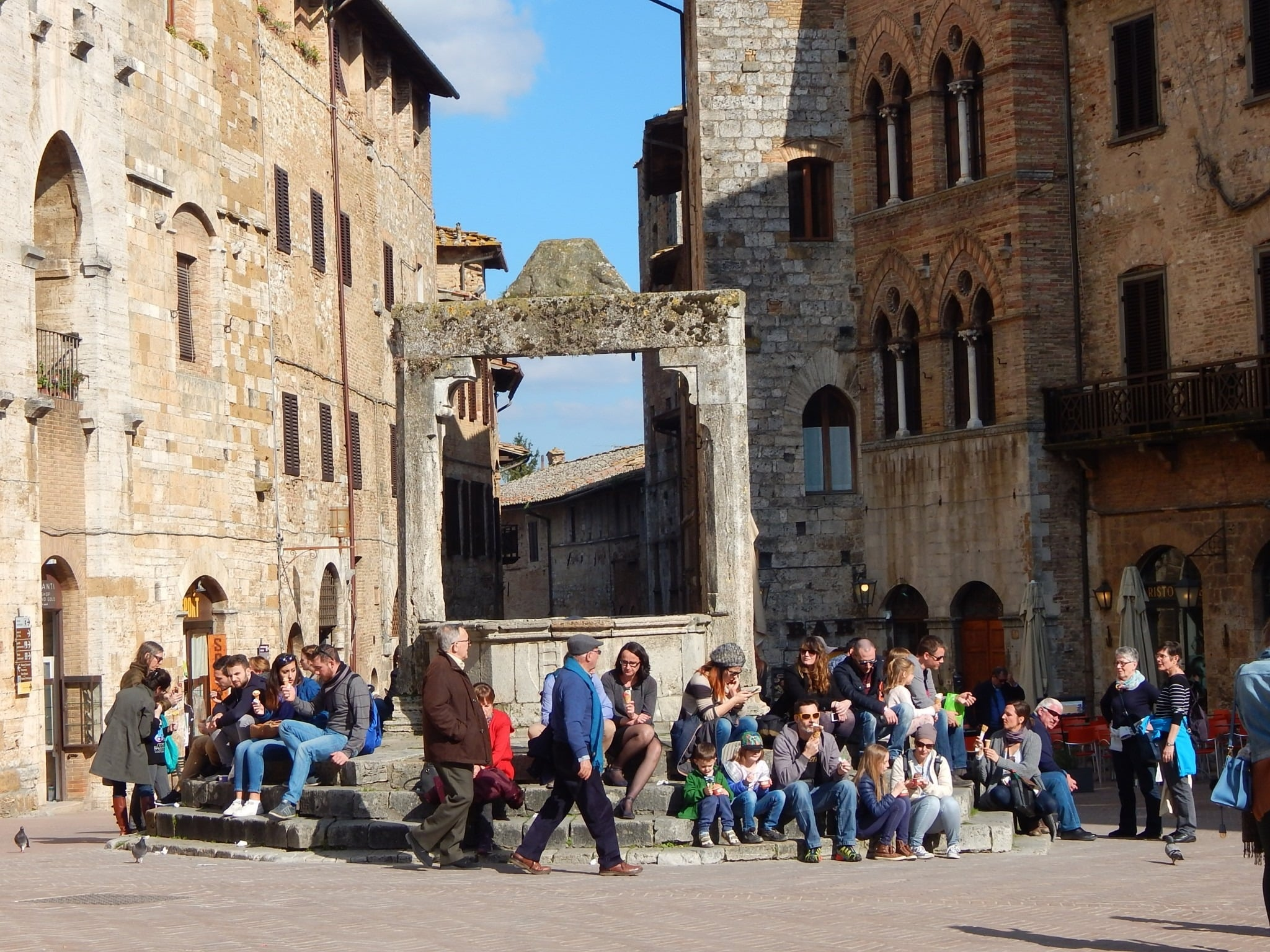 The main piazza in San Gimignano