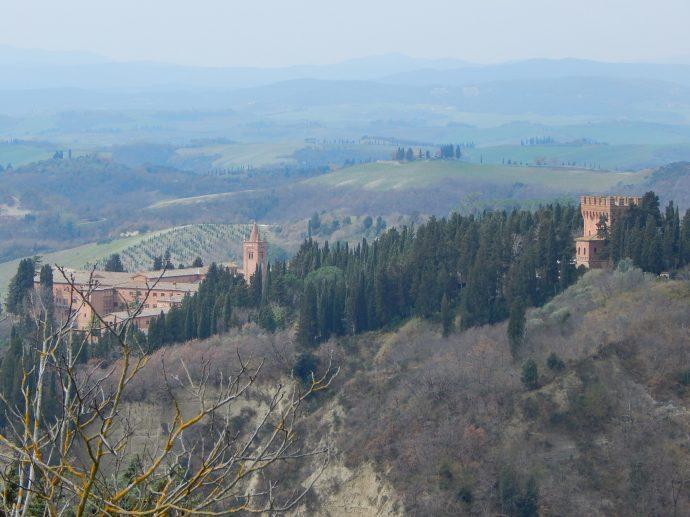 Abbey of Monte Oliveto Maggiore in Asciano Tuscany