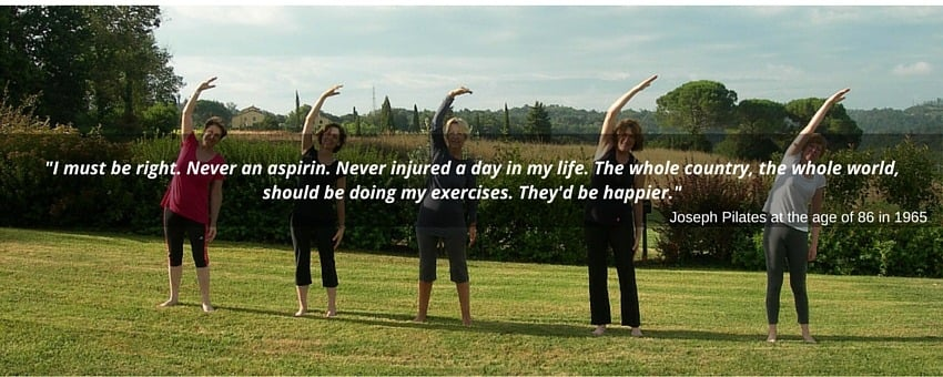 Joseph Pilates quote about living happier life
