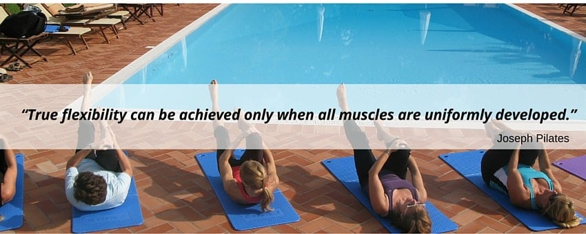 Joseph Pilates quote about flexibility
