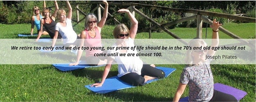 Joseph Pilates quote about old age and retirement