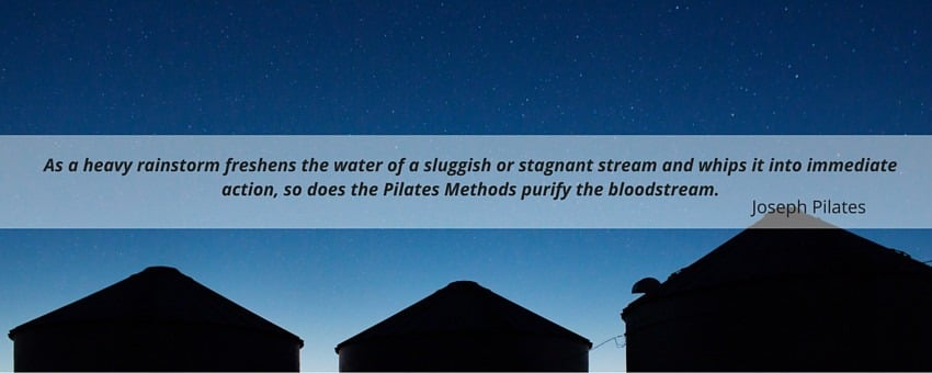 Joseph Pilates quote about blood circulation