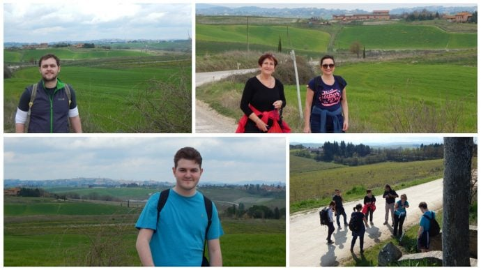 Walking the route of the Via Francigena in Tuscany