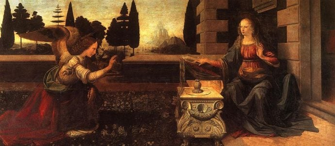 LeonarLeonardo Da Vinci The Annunciation