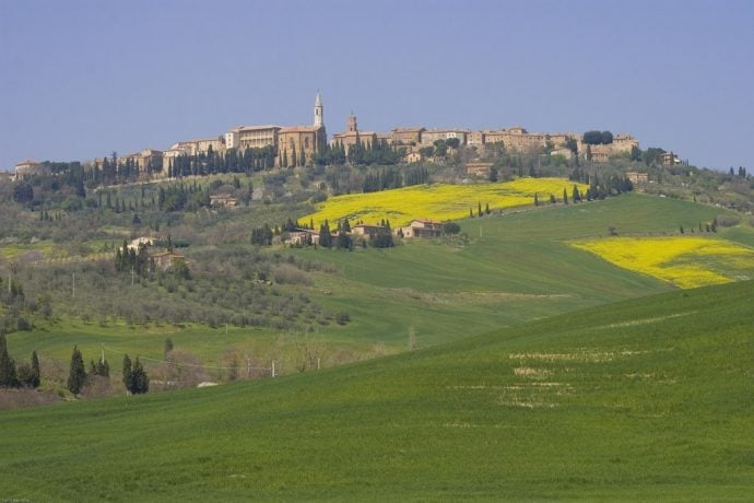 View of the hills of Pienza