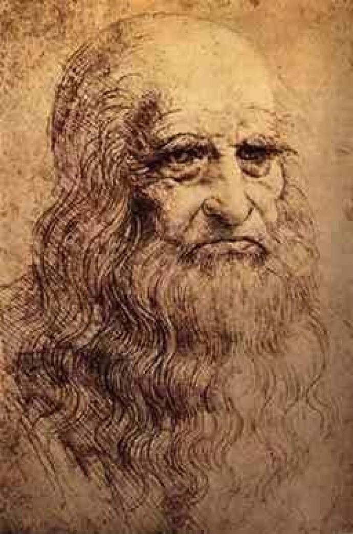 Possible Self Portrait of Leonardo da Vinci