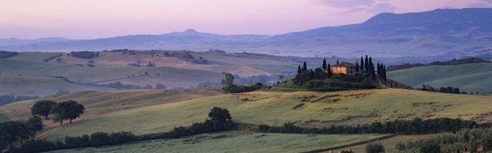 Landscape view of Tuscany