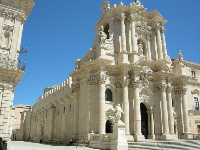 Ortigia duomo facciata, The Cathedral of Syracuse